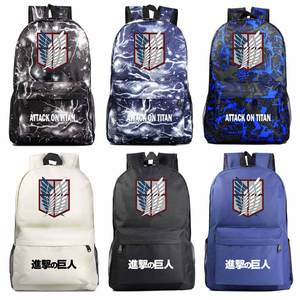 Школьная сумка для мальчиков и девочек, Рождественская мультяшная сумка с крыльями аниме «Атака Титанов», школьная сумка для подростков, шк...