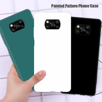 Miękki silikon pełna pokrywy skrzynka dla Poco M3 X3 NFC F2 Pro Anti-knock cukierki kolor etui na telefony dla Poco X3 przypadku Xiaomi Mi 10T Lite 9T tanie i dobre opinie AICSRAD CN (pochodzenie) Częściowo przysłonięte etui Candy Color Soft TPU Phone Case Zwykły Smartphone Full Cover Case for Poco M3