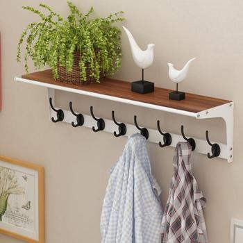 Hanger Wall Hanging Wall Multi-functional Simple Modern Porch Bedroom Coat And Hat Rack Living Room Entrance Shelf Hook