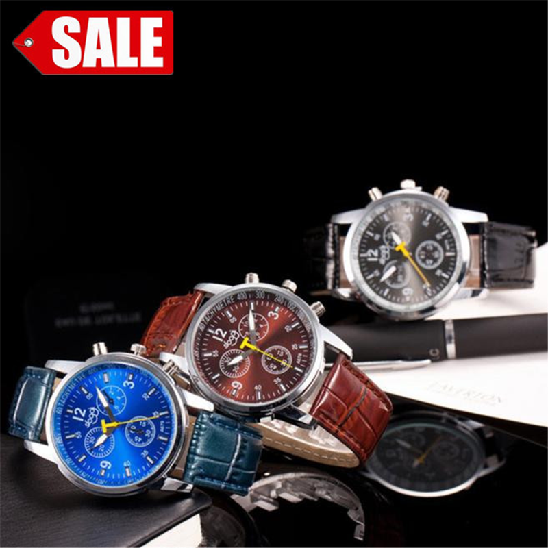 Luxury Watch Mens Military Crocodile Faux Leather Band Stainless Steel Quartz Wristwatch Fashion Business Watches Reloj Hombre %