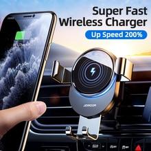 Joyroom araç telefonu tutucu kablosuz şarj 15W Qi iPhone 12 11 Pro Max Xiaomi Huawei Samsung S9 S10 hızlı şarj araba montajı