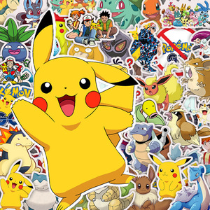 10/30/50pcs Cartoon Anime Pokemon Stickers Kawaii Pikachu Stikers Skateboard Bicycle Guitar Laptop Kids Waterproof stikers Toys