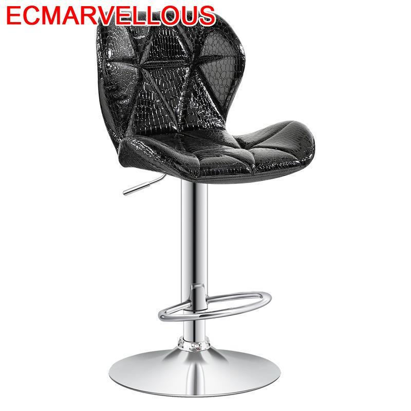Sandalyesi Stoelen Kruk Sgabello Sedia Barkrukken Stoel Table Comptoir Leather Silla Cadeira Tabouret De Moderne Bar Chair