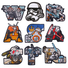 New Arrival Star Wars Iron On Patch Fusible Clothing Sew On Badge Stickers On Fabric On The Back Stripes On Clothes Embroidered on