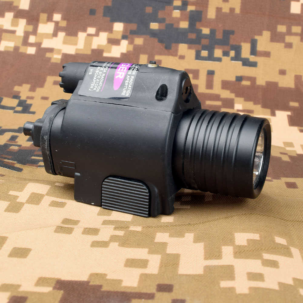 Mini Glock Pistol Gun Light Hunting Camping Gun lighting equipment Flashlight Tactical sight Red Laser LED flashlight
