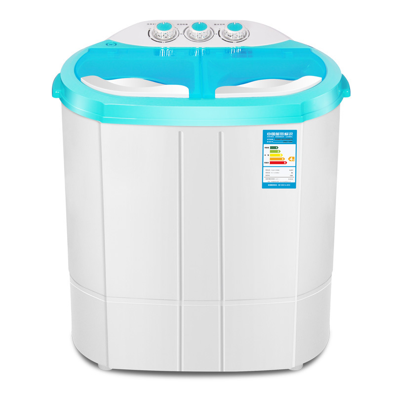 240w power Mini washer can wash 3.0kg clothes+120w power 2kg dehydration twin tub top loading washer&dryer SEMI-AUTOMATIC WASHER image