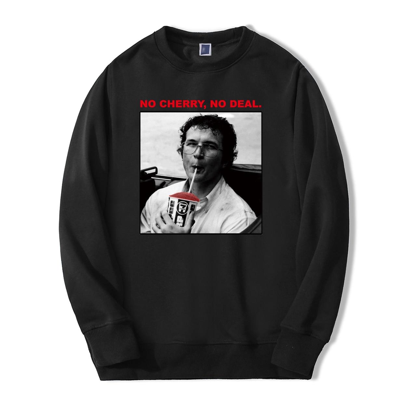 TV Show Print Funny Men Sweatshirts Stranger Things No Cherry No Deal Warm Fleece Fashion Men Hoodies Hip Hop Style Streetwear