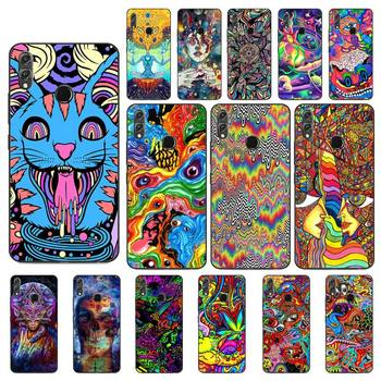 Babaite Psychedelic Trippy Art Phone Case For Huawei Honor 8X 8A 9 10 20 Lite 30Pro 7C 7A 10i 20i image