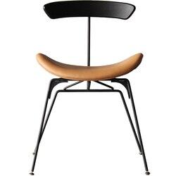 M8 żelaza Nordic netto czerwony krzesło proste domu stylu industrialnym jadalnia projektant kreatywny mrówka rozrywka nowoczesny minimalistyczny w Krzesła do kawiarni od Meble na