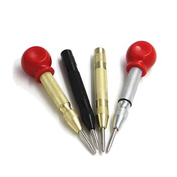 New Automatic Center Punch Spring Loaded Marking Hole Carbon Steel Body Gold Color/Silver Color Optional