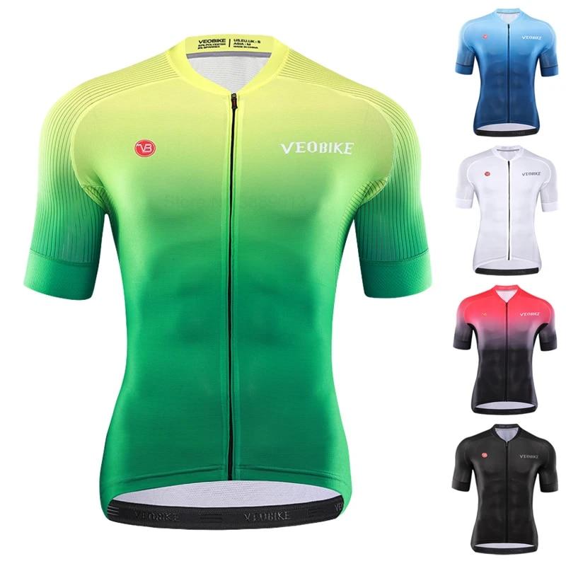 Mens Bike Shirt Cycling Jersey Short Sleeve Road Racing Clothes Bicycle Uniform