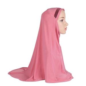 Image 4 - Plain Scarf Women Muslim One Piece Amira Hijab Islamic Hijabs Head Cover Wrap Shawl Turban Niqab Soft Headscarf Arab Khimar New