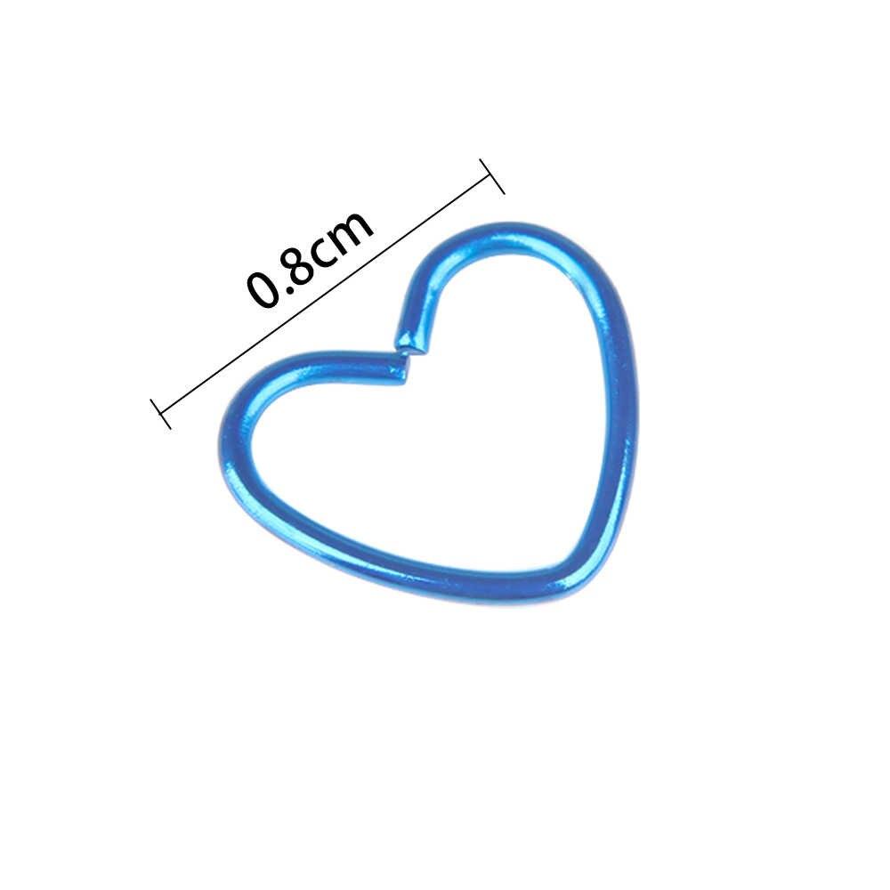 2 adet cerrahi çelik Daith kalp yüzük kıkırdak Tragus piercing Hoop dudak burun halkaları Orbital kulak damızlık Helix vücut Charm takı