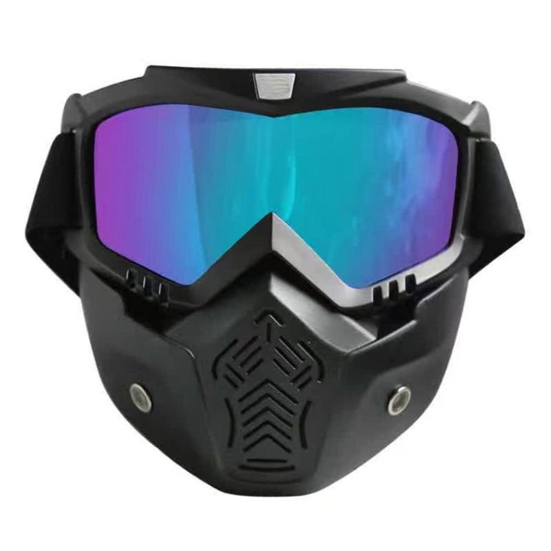 Windproof Skiing Glass With Removable Mask Motorbike Goggles Ski Snowboard Mask Winter Snowmobile Goggles Motocross Sunglasses