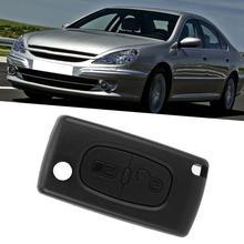 2 кнопки дистанционный ключ для автомобиля, Fob чехол Blade чехол подходит для PEUGEOT 207 307 308 407 компактный размер маленький и удобный