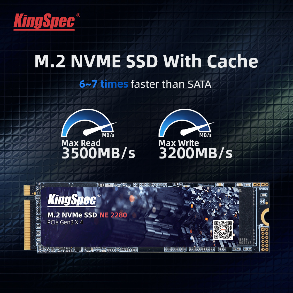 Kingspec 512GB M.2 SSD с Dram M2 PCIe NVME ТБ 2 ТБ твердотельный накопитель 2280 внутренний жесткий диск для ноутбука с кэш-памяти высокая скорость
