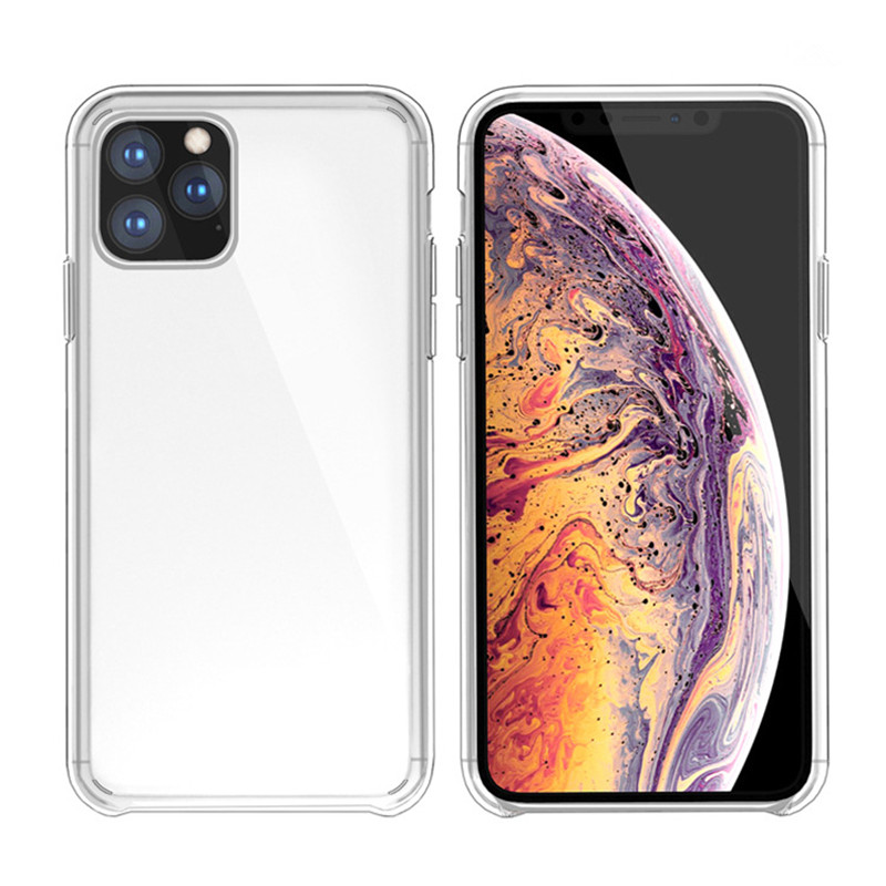 1:1 Original Official Style Clear Phone Case For iPhone 11 HD Transparent ShockProof Cover For iPhone 11 Pro Max 2019 Case