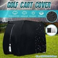 285*122*168cm Waterproof Oxford Cloth Golf Car Cart Cover Sunshade Dustproof For EZ Go Club