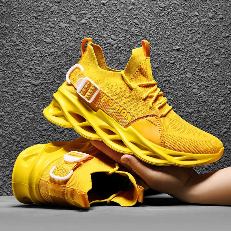 O Último Verão Dos Homens Sapatos Casuais Moda Sapatos de Malha Masculina Cesta Homme Homens Tênis para Caminhada homens Plataforma Chunky Big Size 45 46