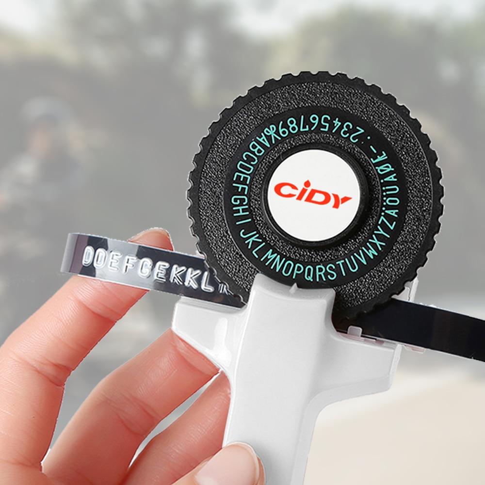 Stampante di etichette di Colore bianco per MOTEX E101 con 9 millimetri etichetta Nastro FAI DA TE Manuale label maker Macchina Da Scrivere per dymo goffratura label maker