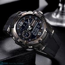 SANDA Marke Armbanduhr Männer Uhren Männliche Uhr Für Männer Uhr Military Sport Armbanduhr Outdoor Wasserdicht Dual Display Stunden