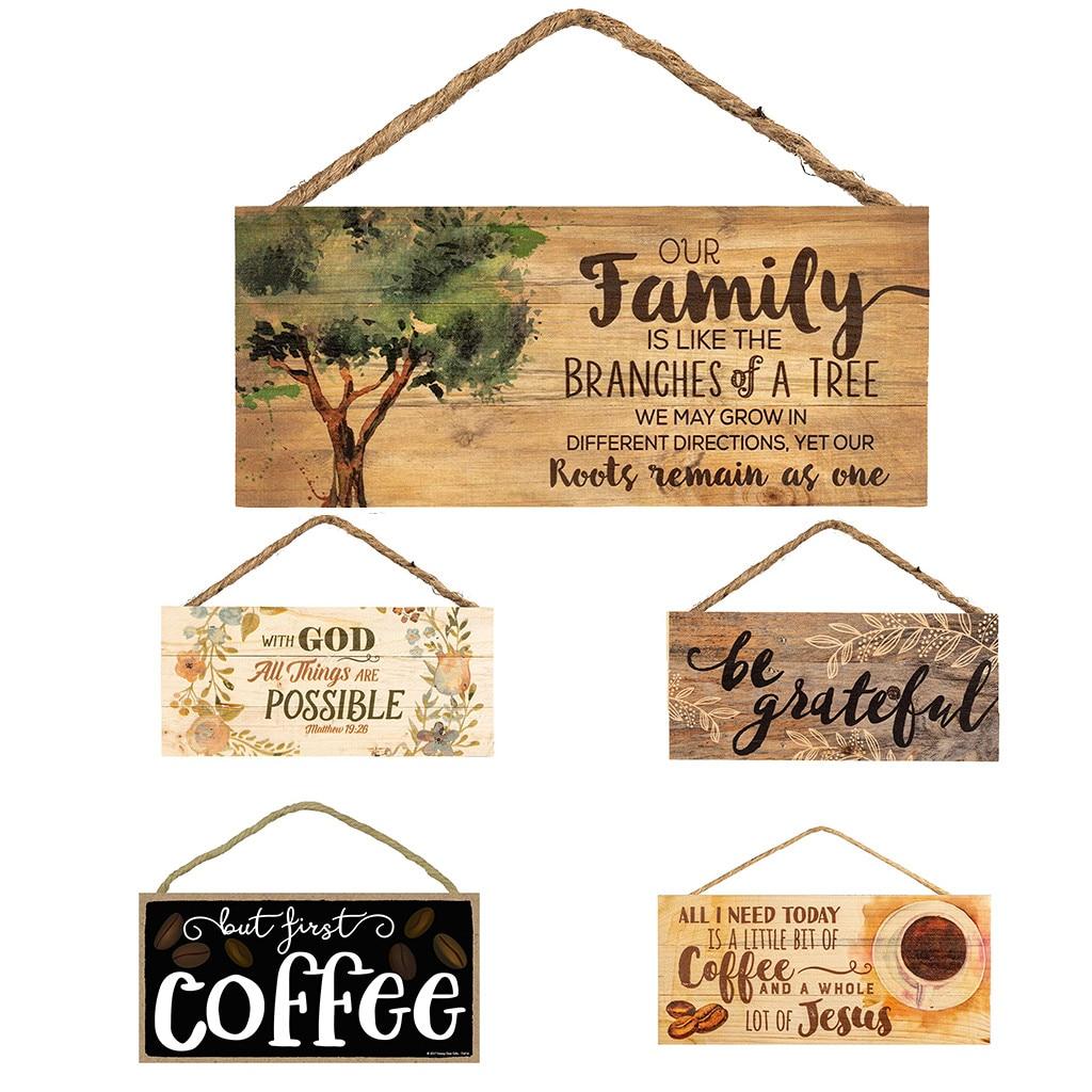 Signo De Pared Colgante Placa de madera hogar dulce hogar decoración del hogar familiar de amor