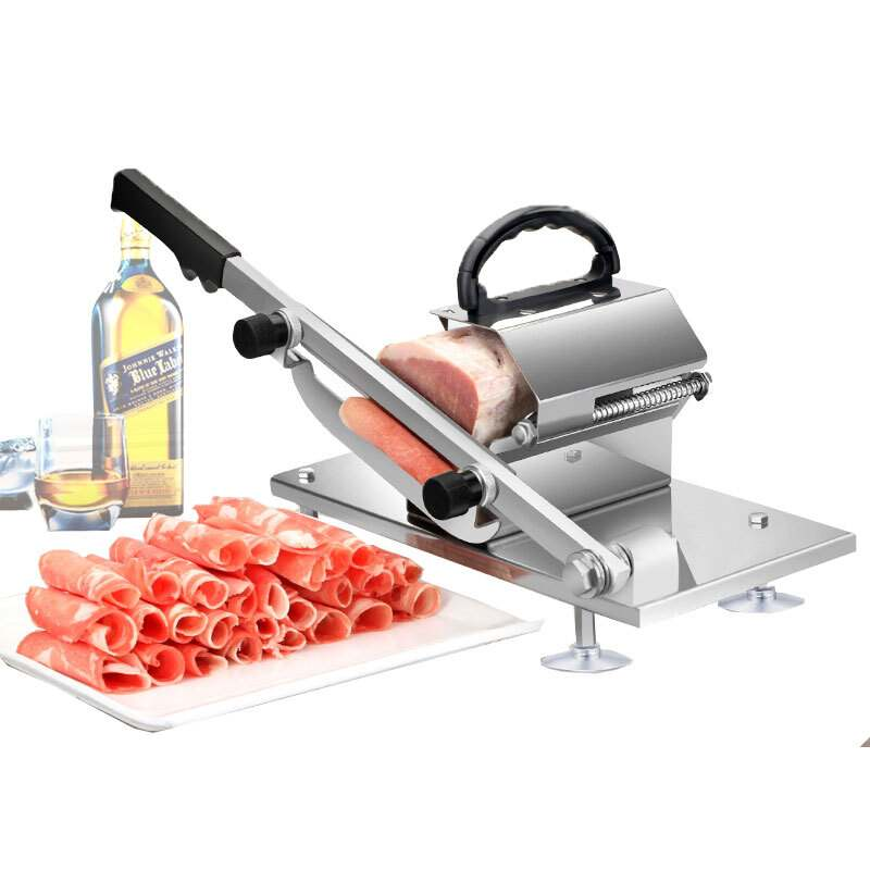Meat slicer Slicer Sliced meat cutting machine Manual slicer Automatic meat delivery Desktop Easy cut frozen