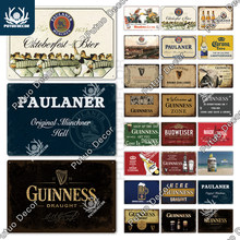 Putuo decoração da marca de cerveja do vintage estanho placa de metal bebedor publicidade placa decoração parede para pub bar homem caverna clube decoração