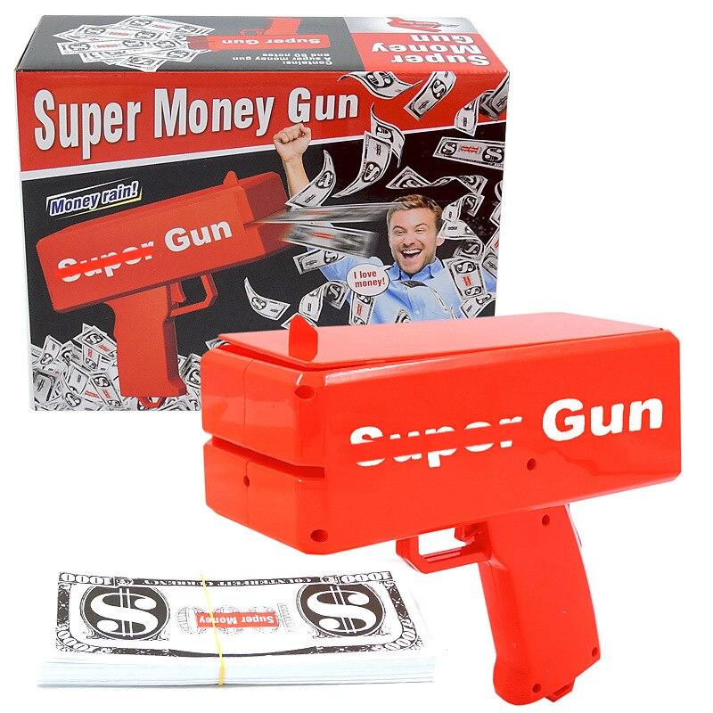 Máquina de pistola de dinero para adultos y niños, juguetes para niños de 2 a 4 años, caja de juguete antiestrés, regalo divertido