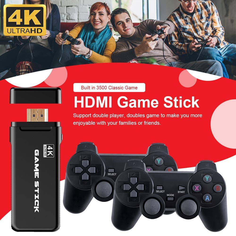 4K Игровая USB Беспроводная консоль 3500 Классическая Игровая приставка 8 бит мини ретро пульт управления HDMI выход двойной плеер