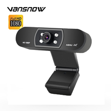 HD 1080P Night Vision Webcam with Mic USB Plug In Play Video Camera Web Cam for PC Laptop Computer Video Conference Meeting gocomma pc c1 1080p hd webcam with mic rotatable pc desktop web camera cam mini computer cam video recording work