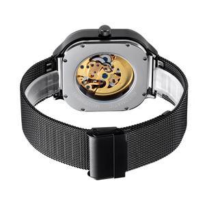 Image 3 - SKMEI Fashion Quartz Watch Men Mechanical Automatic Watches Waterproof Hollow Art Stainless Steel Strap Male Clock montre homme