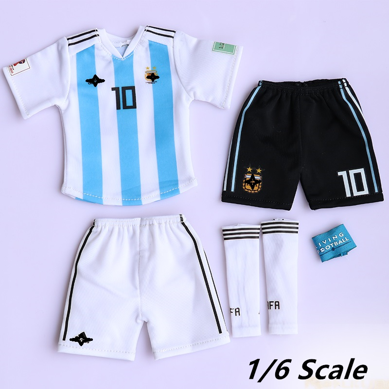 1/6 Scale Lionel Messi Soccer suit Football Star Clothes Set For 12 Inches Action Figure Body DIY