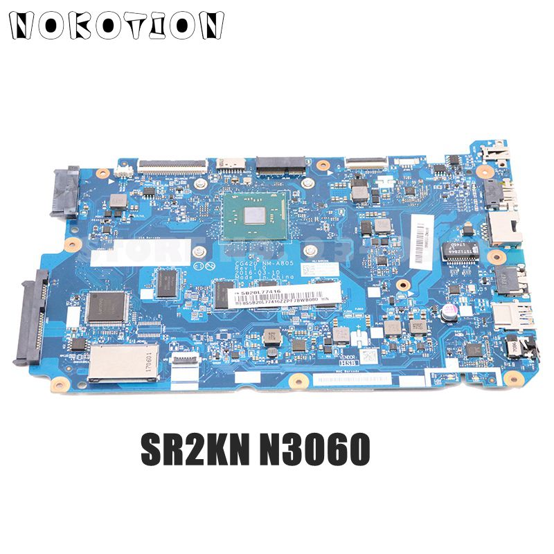 NOKOTION 5B20L77416 CG420 NM-A805 MAIN BOARD For <font><b>Lenovo</b></font> <font><b>110</b></font>-15IBR Laptop <font><b>Motherboard</b></font> SR2KN N3060 CPU DDR3L image