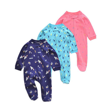цены Pure cotton baby spring and autumn clothing newborn onesie baby girl romper baby girl clothes infant boy romper ropa bebe