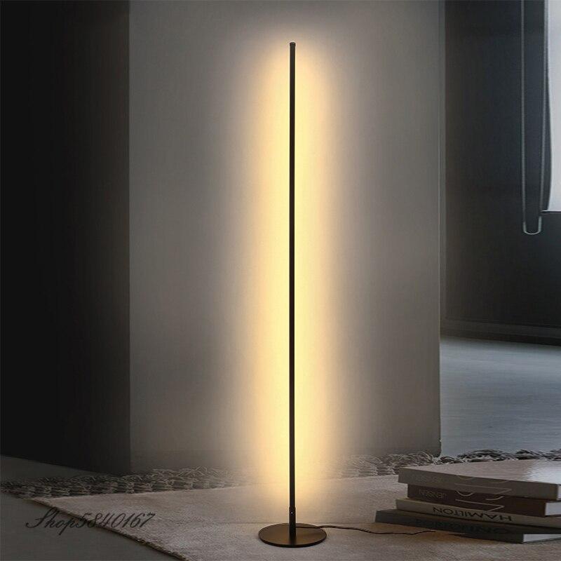 Светодиодные простые напольные лампы с дистанционным управлением, приглушаемые стоячие лампы для спальни, угловой напольный светильник для гостиной, домашний декор, напольная стойка|Напольные лампы| | АлиЭкспресс