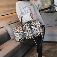 Women Fashion Handbag Large-capacity Travel Bag Leopard Prin