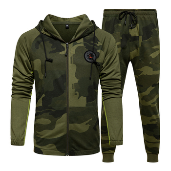 Men Sets Camouflage Casual Tracksuit 2020  3