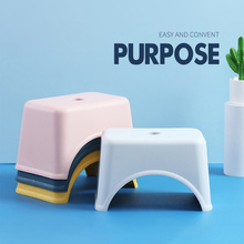 Thicken Plastic Square Stool Children'S Low Stool Living Room Small Bench Home Adult Change Shoes Stool For KIds Household Goods