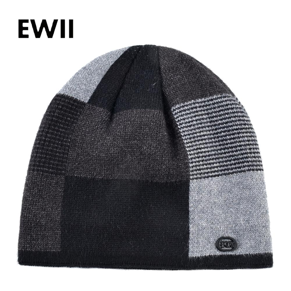 Double Layer Beanie Hat Women Winter Knitting Hats Men Thick Warm Caps Male Women Casual Beanies Cap Fashion Skullies Unisex