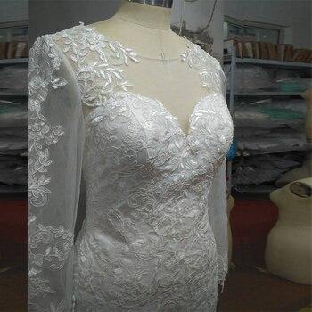 wuzhiyi Cap Sleeve wedding dress Bridal Dresses Robe De Mariage Applique Long Mermaid Wedding Dress 2020 vestido de noiva Bride