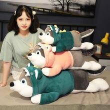 Большая игрушка кукла хаски подушка для мальчика и девочки Спящая