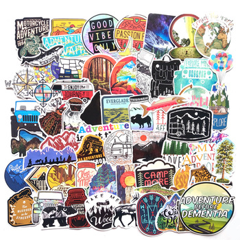 65pcs Camping Travel Stickers Wilderness Adventure Outdoor Landscape Waterproof Decal Sticker To DIY Laptop Suitcase Motor F4 - discount item  40% OFF Classic Toys