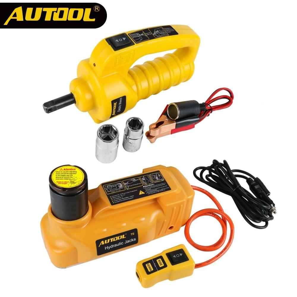 Les véhicules à moteur de levage de voiture de cric hydraulique électrique de 5 tonnes 12V dautool remplacent des outils déquipement de secours avec la clé électrique