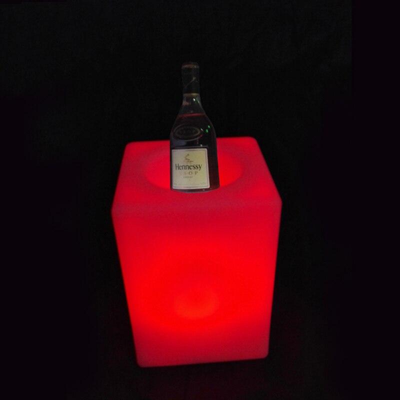 Skybess New Arrival LED Whine Holder LED Flowerpot Colors Changeable Luminous flash flower Planter tray Vase LIGHT indoor