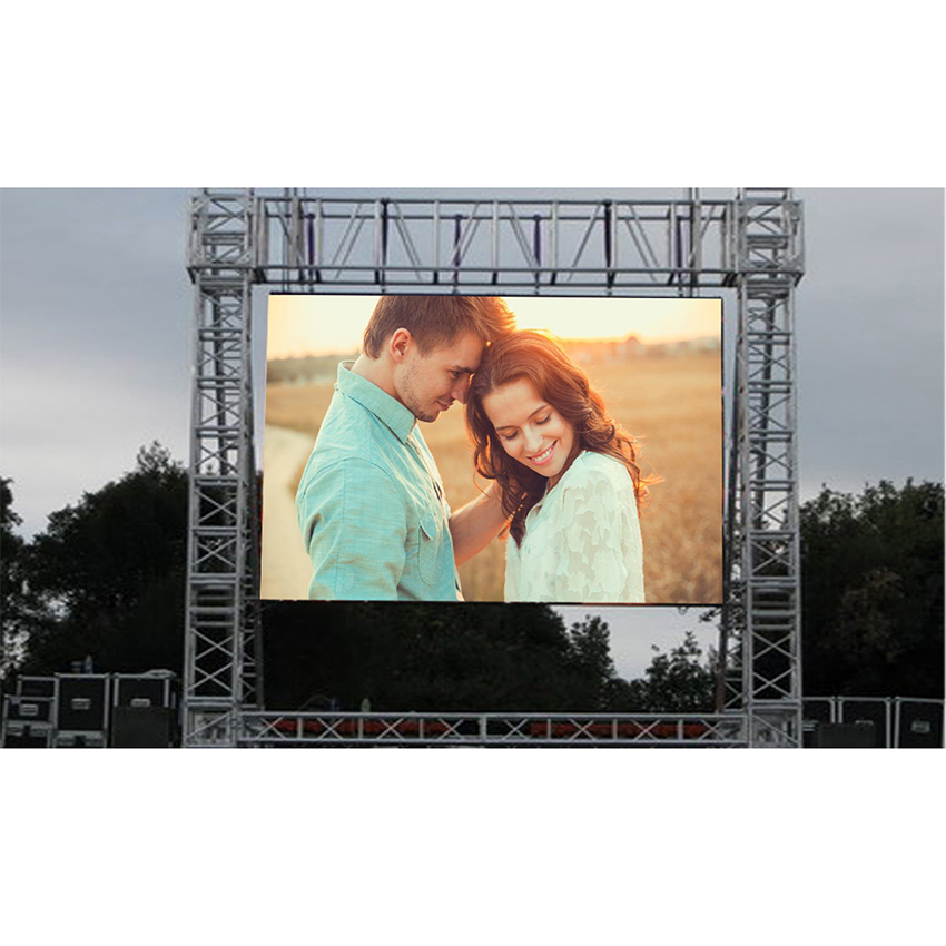 Outdoor Led Display P5 128*128Pixles 1/8 Scan Rgb Full Color LED Panel Hub75 SMD P5 640x640mm Led Display Module Video Wall