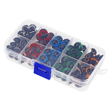 100PCS 8mm 10mm 12mm Mix Color Plastic Animal Safety Eyes For Toys Teddy Bear Stuffed For Dolls Craft Amigurumi Accessories Box