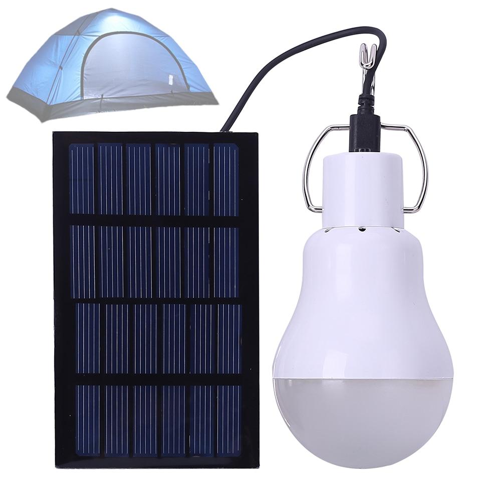 LED Solar Light Portable Lamp Bulb Luminaria Tent Flashlight Solar Energy Panel Outdoor Sunlight Fit For Reading / Camping