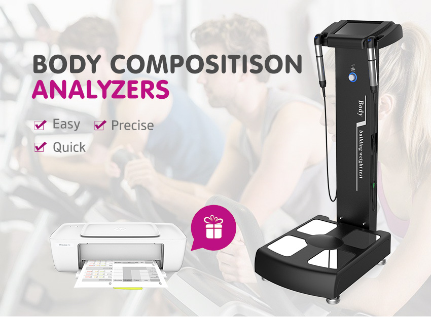 Hot Sale!!! 2020  Professional Physical Measuring Instrument Analyzer Body Fat Analysis Body Composition Analyzer With Printer