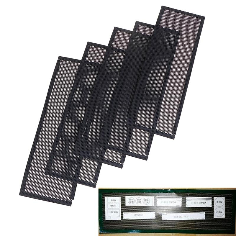 Горячая Распродажа 3 шт./5 шт., универсальный пылезащитный ПВХ-фильтр DIY, защитная задняя пластина для компьютерного шасси ввода/вывода